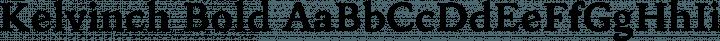 Kelvinch Bold free font