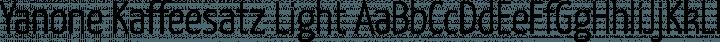 Yanone Kaffeesatz Light free font