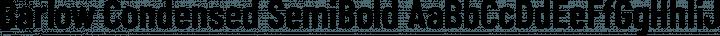 Barlow Condensed SemiBold free font