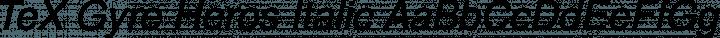 TeX Gyre Heros Italic free font