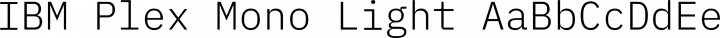 IBM Plex Mono Light free font