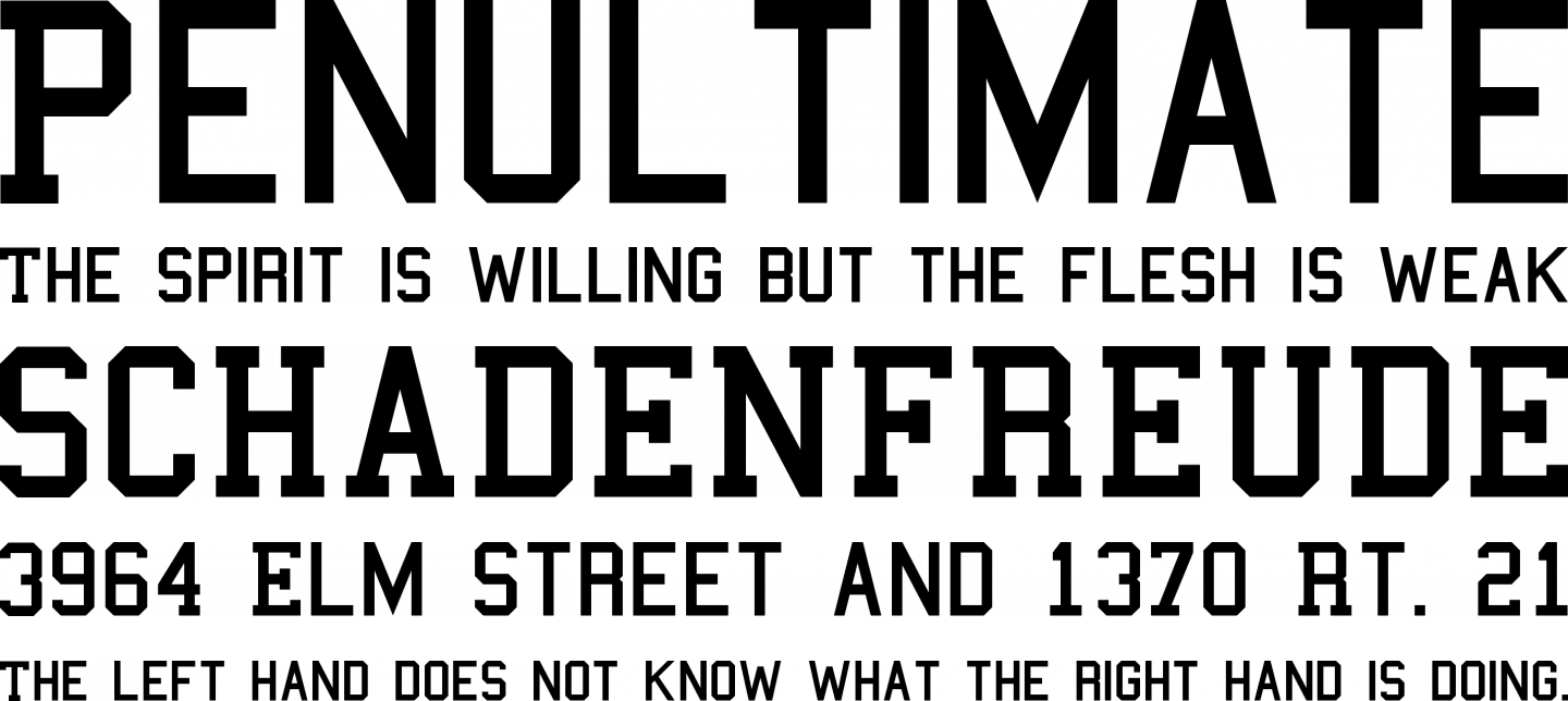 College Font Free by Matthew Welch » Font Squirrel