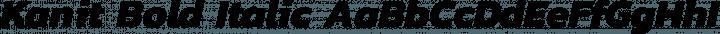 Kanit Bold Italic free font