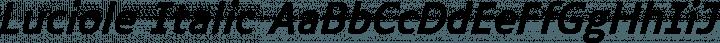 Luciole Italic free font