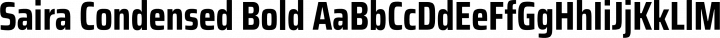 Saira Condensed Bold free font