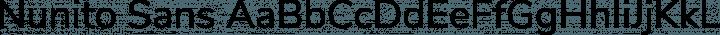 Nunito Sans Regular free font