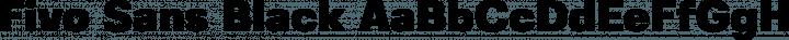 Fivo Sans Black free font