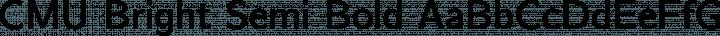 CMU Bright Semi Bold free font