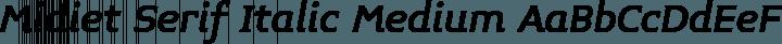 Midiet Serif Italic Medium free font