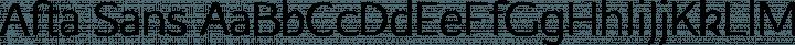 Afta Sans Regular free font