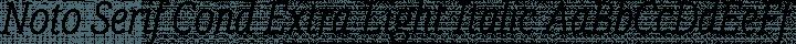 Noto Serif Cond Extra Light Italic free font