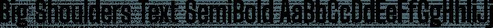 Big Shoulders Text SemiBold free font